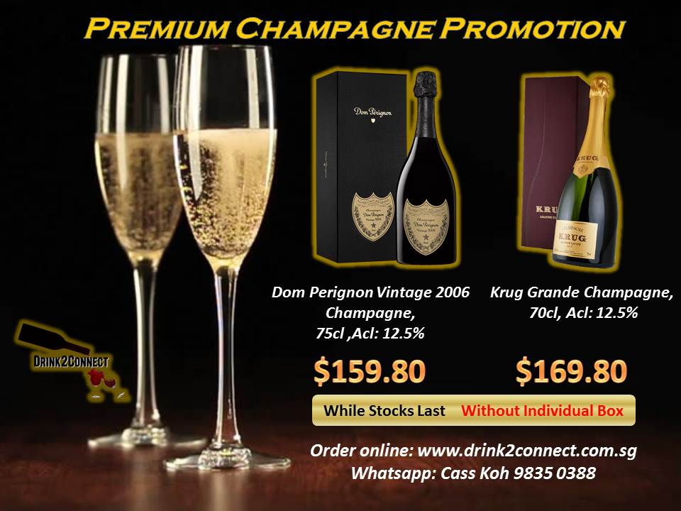 Dom Perignon Vintage 2006 and Krug Grande Cuvée – the best champagnes at the best price in town