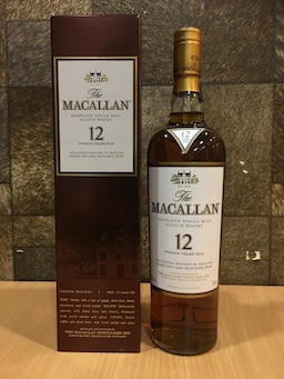 700ml Macallan 12yrs Sherry Cask Whisky W/Box