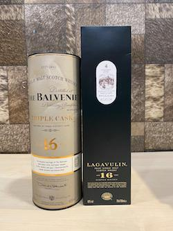 700ml 16yrs Whisky Set x 2pcs of Lagavulin 16yrs & Balvenie 16yrs Whisky