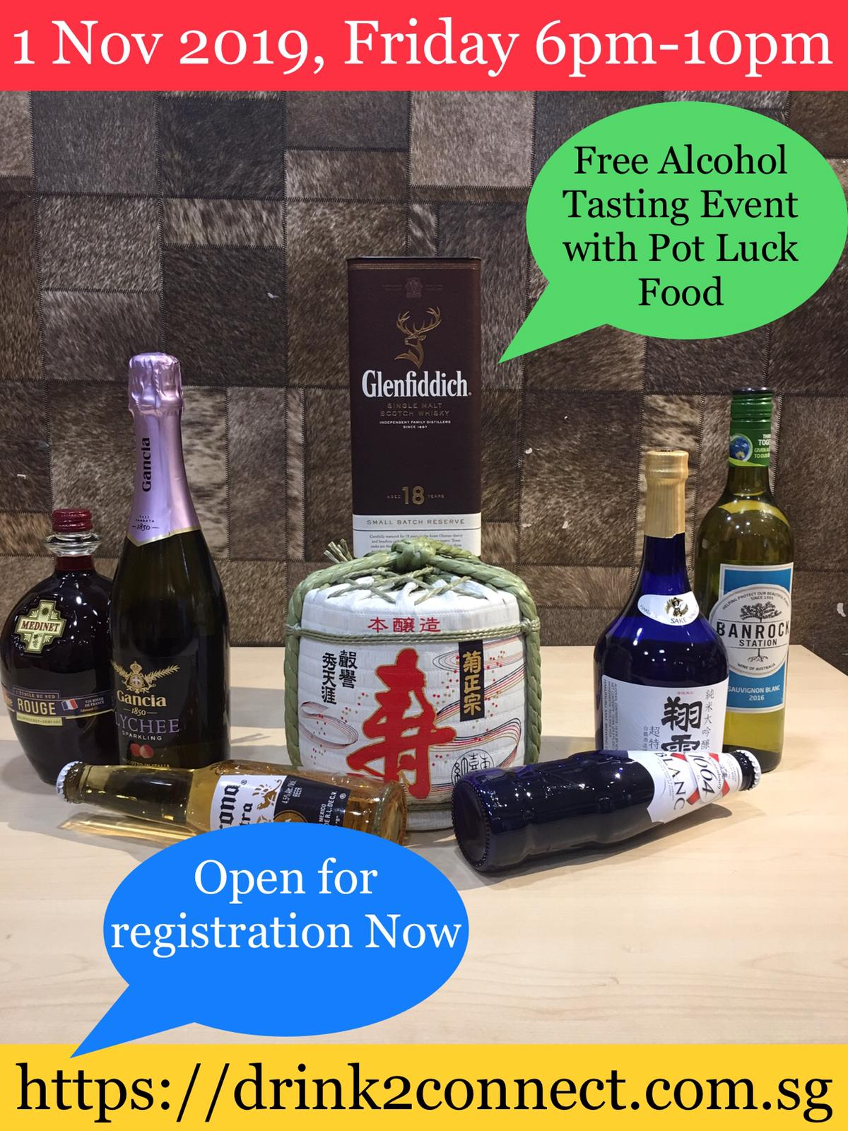 1 Nov 2019, Friday 6pm-10pm, Free Alcohol Tasting Event