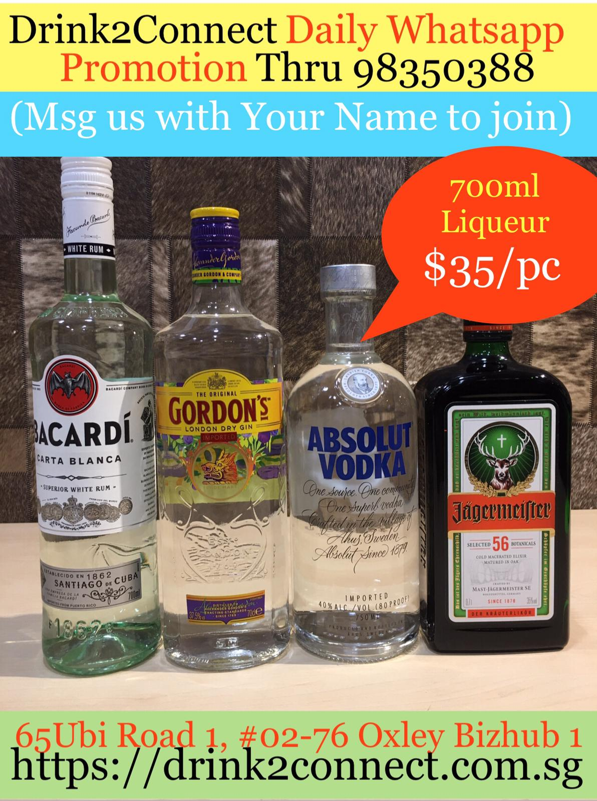 700ml Gin/Rum/Vodka/Jagermeister on Promotion Sale