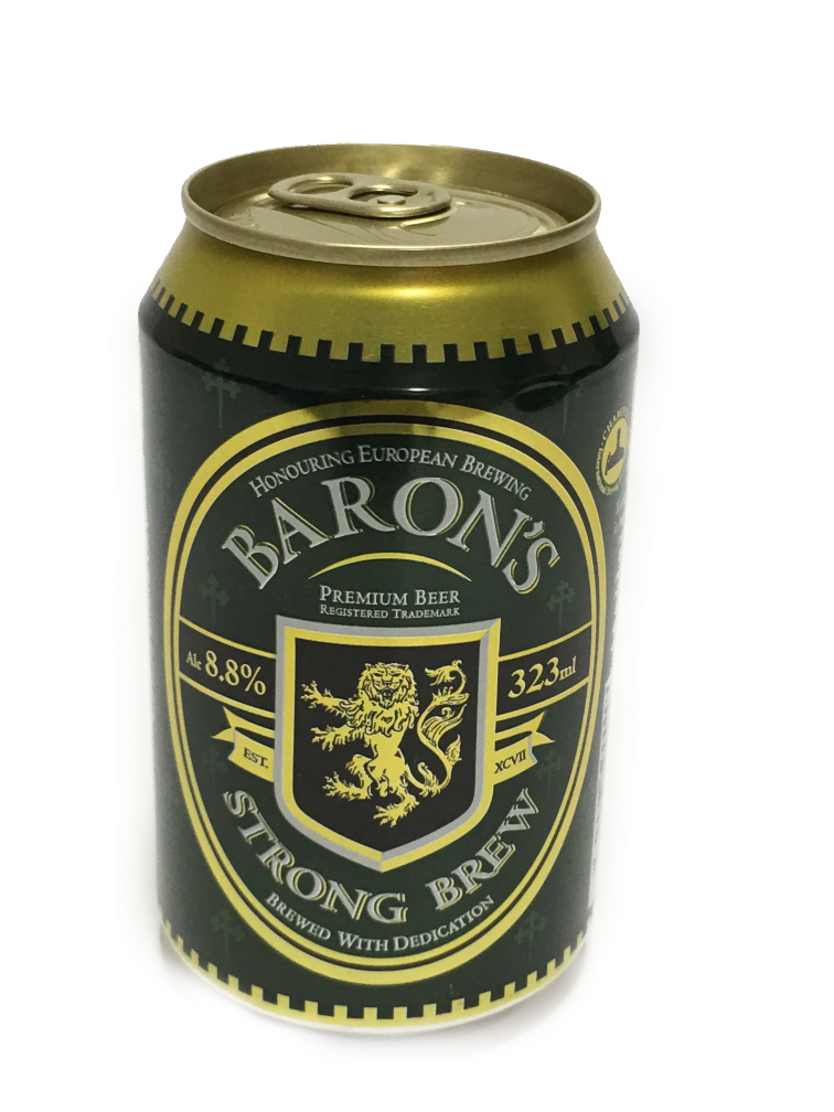 Baron S Premium Beer Can 323ml Acl 8 8