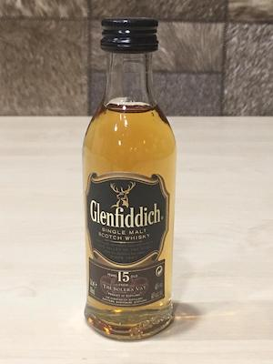 Glenfiddich 15yrs Miniature Single Malt Whisky, 5cl, Acl:40%