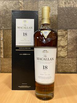 700ml Macallan 18yrs Sherry Oak 2020 Whisky/Macallan 18 Years Old Sherry Oak Whisky Singapore