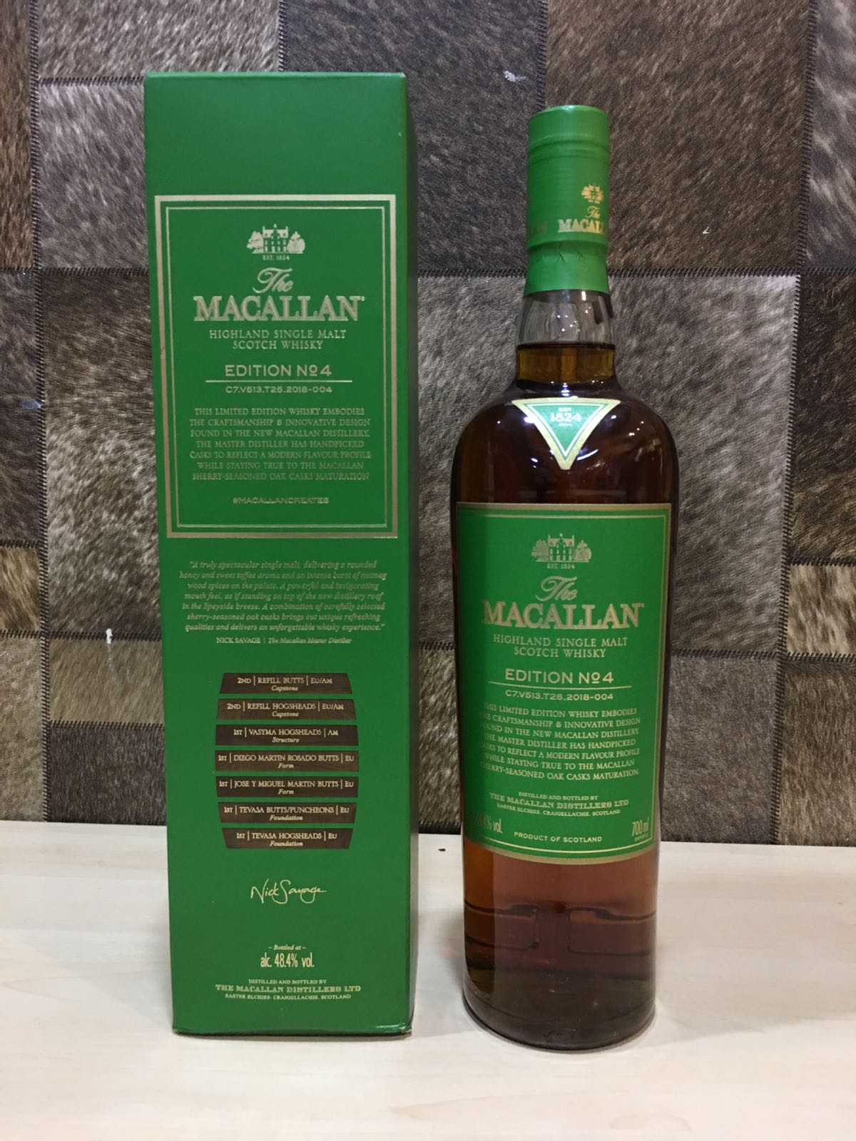 Macallan Edition 4 Whisky 700ml With Box