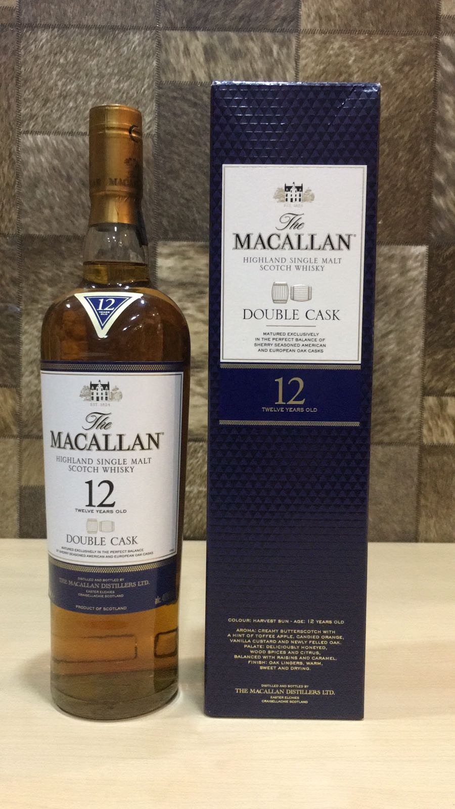 700ml Macallan 12yrs OLD Single Malt (Doubled Cask) Whisky