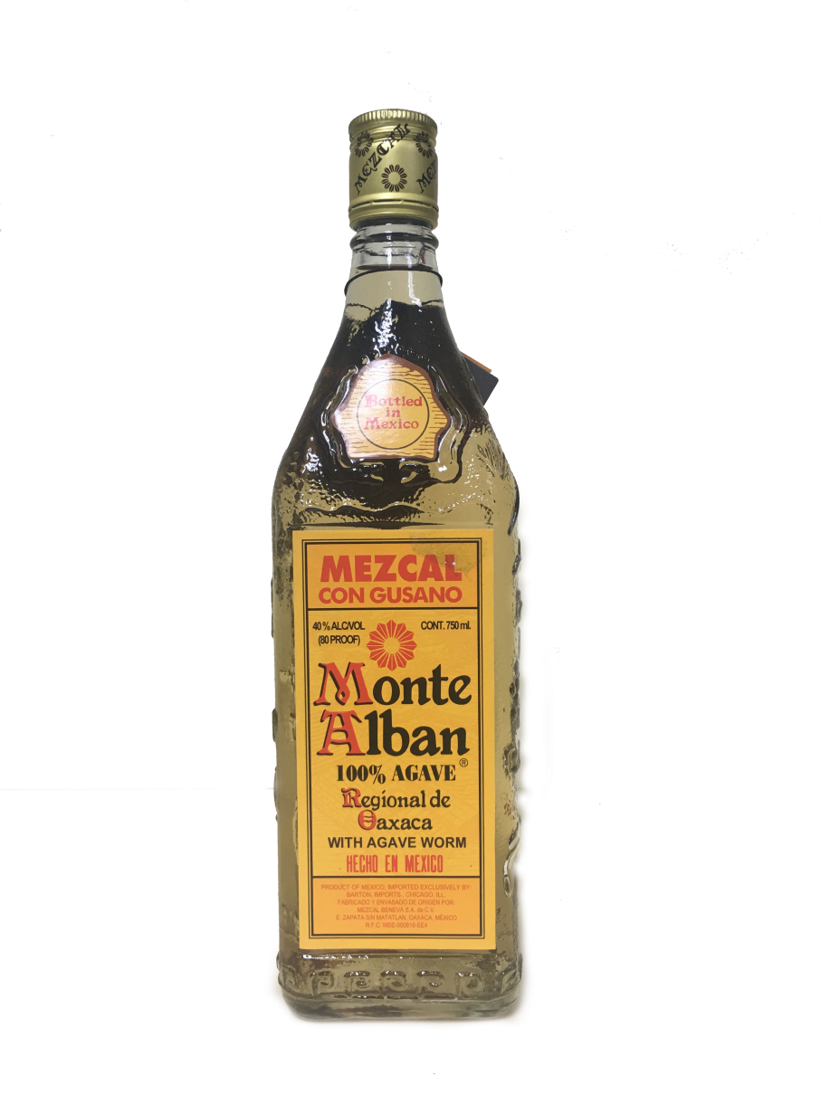 Monte Alban Mezcal with Agave Worm, Acl: 75cl, Acl: 40%