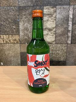 360ml One Shot Sweet Watermelon Soju 10.1%/One Shot Soju Sweet Watermelon Flavour