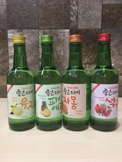 4pcs/set, Korean Soju, Good day 360ml