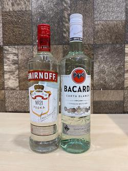 700ml Spirit Set x 2pcs of Smirnoff Vodka & Bacardi Superior Rum