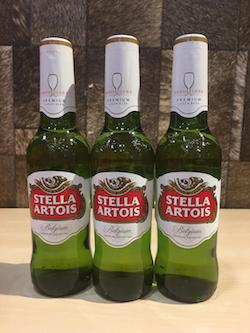 3pcs Stella Artois Bottle Beer, 330ml, Acl: 5.2%