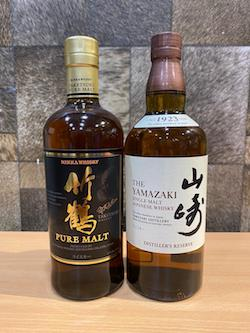 700ml Japanese Whisky Set x 2pcs of Yamazaki Distiller Reserve & Nikka Pure Malt Whisky